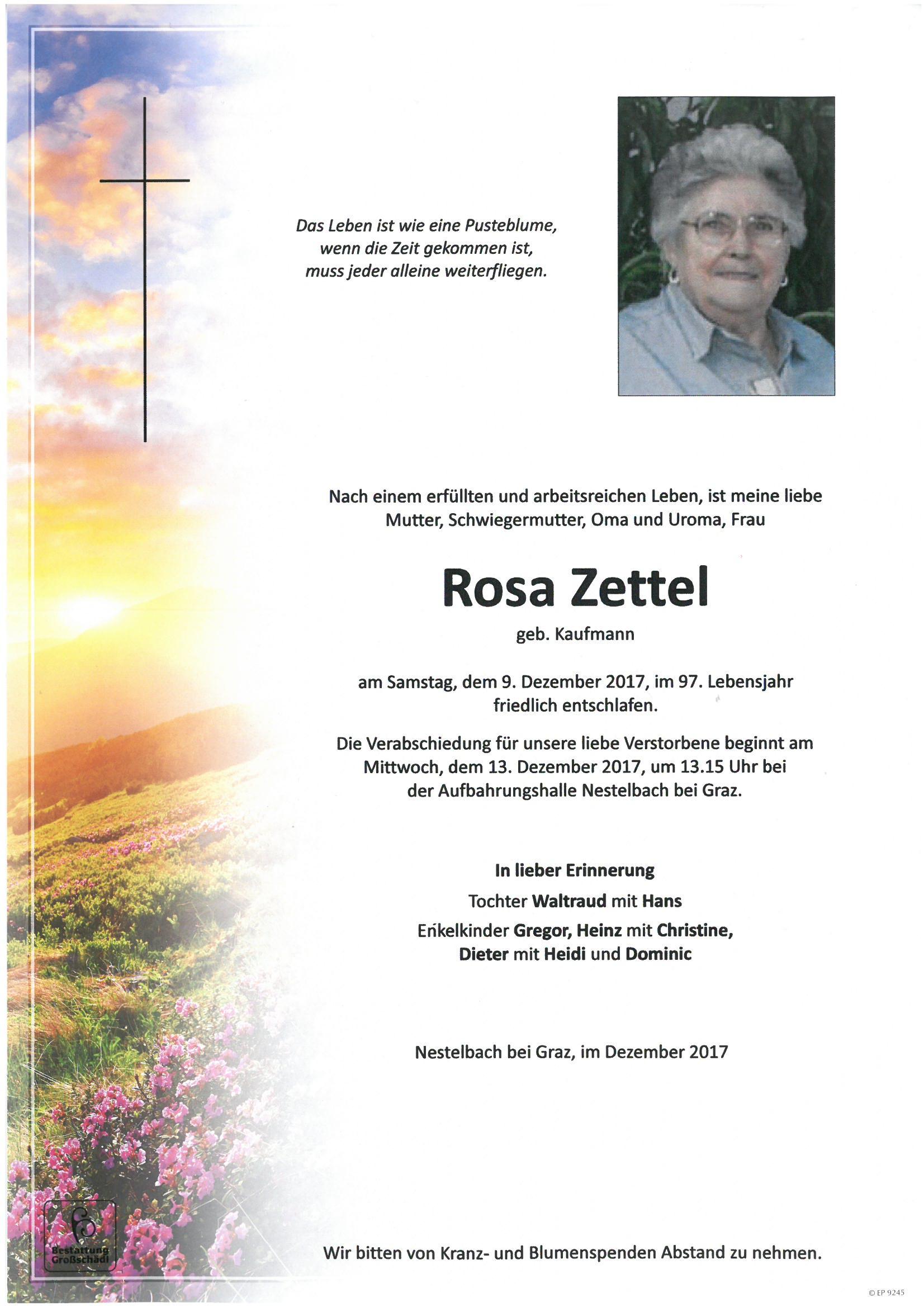 Rosa Zettel Im Briefkasten